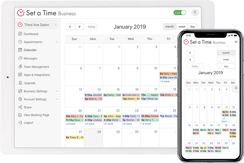Set a Time scheduling app on iPad and iPhone